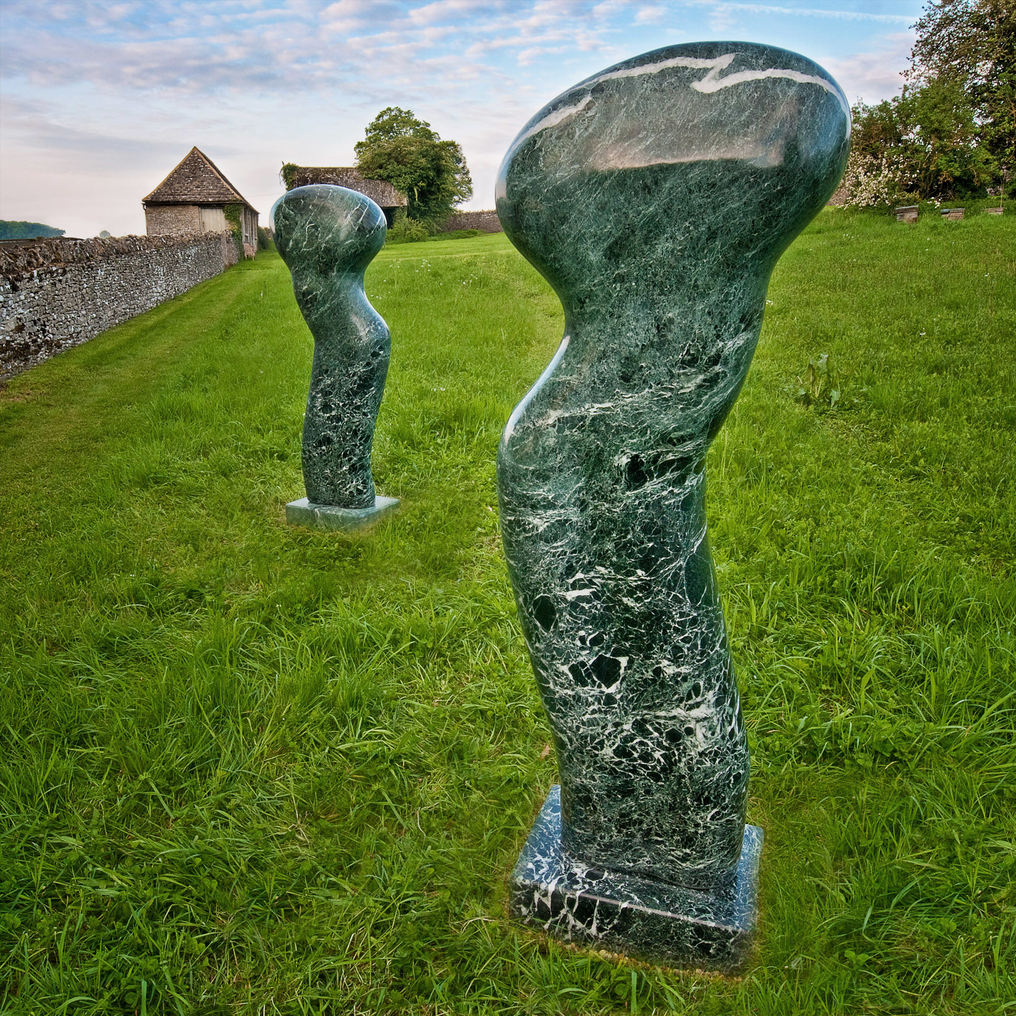 Paul Vanstone – Green water torso (left) and Green river torso (right) image